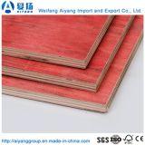 Preiswerter Preis-roter Film stellte Furnierholz von der Shandong-Fabrik gegenüber