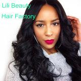 Lili 아름다움 사람의 모발 가발은 파 자연적인 색깔 아기 머리를 가진 페루 Remy 머리 가발을 푼다
