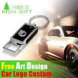 Soft PVC / silicone / chave de borracha com clip Oval
