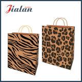 Packpapier-Leopard gedruckter kaufenträger-Geschenk-Papierbeutel Brown-