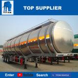 Titaan 50 Aanhangwagens Afrika van de Tanker van de Tafelolie van de Tanker van de Brandstof van het Aluminium van het m3- Volume de Facultatieve