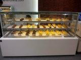 Visor baseado em mármore de porta corrediça vitrina frigorífica de bolo com marcação CE