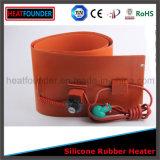Piastrina elettrica del riscaldatore del silicone in azione