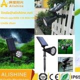 Fornitore esterno di illuminazione del LED che vende l'indicatore luminoso dell'iarda LED del giardino con il comitato solare di alta efficienza