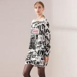 Estilo de moda da Impressão total longo Suéter Pulôver Round Customrize grossista do pescoço