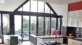Il portello piegante di alluminio del patio delle 5 lastre di vetro con la soglia bassa e Flyscreen è disponibile (CL-D2021)
