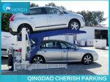 二重シリンダー油圧傾く車の駐車上昇