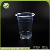 360ml hitzebeständige pp. Wegwerfplastikkaffeetassen mit Kappen und Strohen