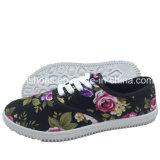 Ботинки отдыха ботинок холстины самых последних женщин плоские (XY0720-1)