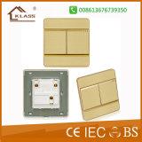 Interruptor de pulsador eléctrico aplicado con brocha de la cuadrilla del aluminio 2