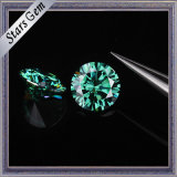 1 quilate 6,5 mm Color Verde Moissanite Diamante