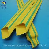 Collegare che contrassegna il tubo barrato dello Shrink di calore di verde giallo