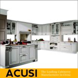 Nuevos muebles al por mayor de la cocina del gabinete de cocina de madera sólida de L estilo al por mayor (ACS2-W15)