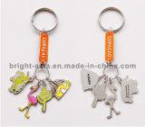 Runde Zink-Legierung Druckguß Keychain (BYH-10651)