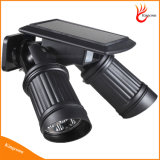 14LEDs sensor de movimiento de la lámpara solar solar impermeable ligero de la pared del LED PIR Dual Head Light Spotlight