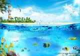 El mar azul impreso Digital de pintura al óleo para la decoración del hogar