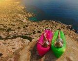 Qualität NylonRipstop Luft-Schlafsack-Sofa-Luft-Bett-Sofa-aufblasbares kampierendes Sofa