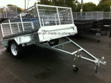 직류 전기를 통한 단 하나 차축 상자 트레일러