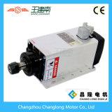 motore ad alta frequenza dell'asse di rotazione raffreddato aria 3.5kw con la flangia per la macchina per incidere di falegnameria di CNC