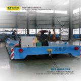 Тяжелый груз электрические транспортные тележки работает на железнодорожном транспорте
