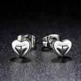 Nuova accumulazione 100% 925 orecchini della vite prigioniera del cuore dell'argento sterlina