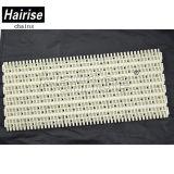 Banda transportadora modular plástica plana perforada de la ISO de Hairise con los alesajes