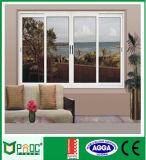 Estilo moderno de aleación de aluminio ventanas correderas con cristal templado