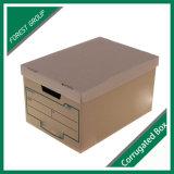 Rectángulo de almacenaje del archivo del papel acanalado de la alta calidad