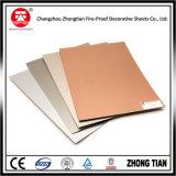 Laminados de alta presión decorativos de aluminio