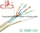 Câble d'acoustique de connecteur de câble de transmission de câble de caractéristiques de câble du câble LAN Fig8 Cat5e/Computer