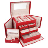 PU Packing Storage Display Beauty Jewelry Case Jewelry Box