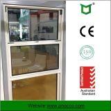 Doble acristalamiento de aluminio estilo americano solo colgado Windows la ventana de apertura vertical de aluminio