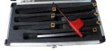 Cutoutil Inch Size Mini Ensemble d'outils de tournage à carbure 5 canaux indexables