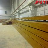 Juyi precio de fábrica al aire libre asientos deportivos Plataforma telescópica eléctrica del blanqueador de madera Banco de aluminio de espera