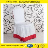 Satin Fabric Ruffled Polyeste Party Wedding Seat Chair Cover