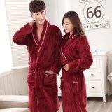 Pyjama promotionnel chemises de nuit de corail d'hôtel/à la maison de peignoir d'ouatine/
