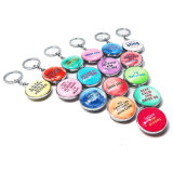 Personalizados personalizados loja de moda de Cristal Chaveiro de metal para presente de promoção