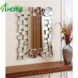 Elegent rectángulo en forma de espejo de pared decoración de la casa