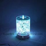 Electric Luminary Fragrance Cool Mist Difusor com tampa de vidro em 3D para tempo seco