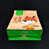 Flache Unterseiten-Fastfood- Beutel-Aluminiumfolie-Reißverschluss-Verschluss-Kaffee-Beutel-Packpapier-aufrechte Plastiktasche für Nahrung