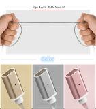 iPhone 인조 인간 유형 C를 위한 1개의 나일론 땋는 자석 USB 충전기 케이블에 대하여 3