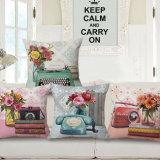 ホーム装飾の綿のリネンデジタルによって印刷される投球枕箱(35C0066)