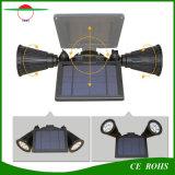 屋外の無線電信400の内腔RGB 8LED太陽動力を与えられたLEDのスポットライト、二重ヘッド防水適用範囲が広い壁の台紙の庭ライト