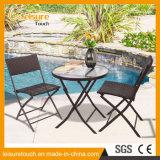Патио Leisuure обедая стул складчатости бистро гостиницы металла ротанга мебели алюминиевый