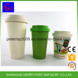Kundenspezifischer umweltfreundlicher Bambusfaser-Kaffeetasse-Arbeitsweg-Becher