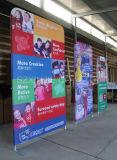 Будочка торговой выставки складывая хлопает вверх стойка индикации выставки знамени