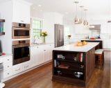 Projeto moderno da cozinha do estilo de madeira do abanador