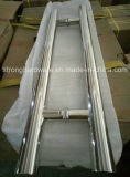 Het ronde Handvat van de Deur van het Roestvrij staal van de Buis voor de Deur van het Glas
