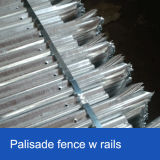 Heißer eingetauchter galvanisierter Palisade-Zaun