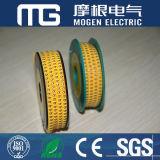 Marcador de cable de PVC resistente al calor Mg
